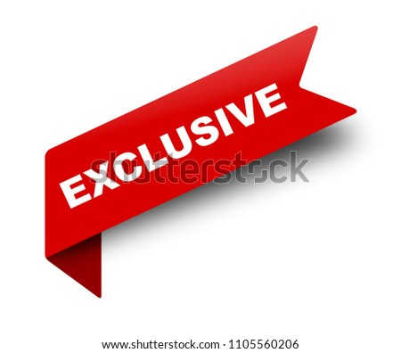 red vector banner ribbon exclusive Foto stock ©