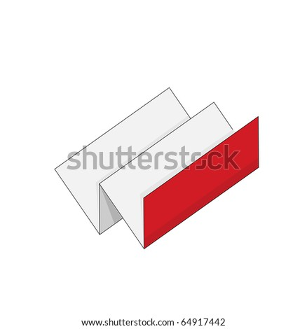 red vector booklet for web - stock vector