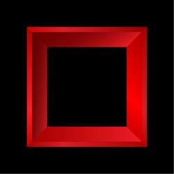 Red vector frames on black background.