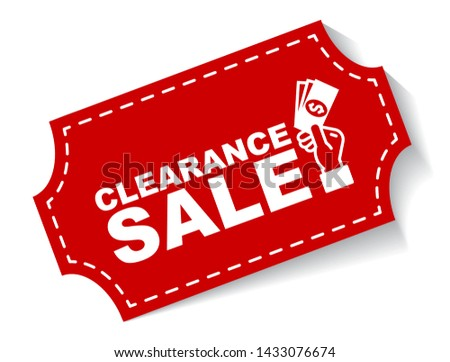 red vector illustration banner clearance sale