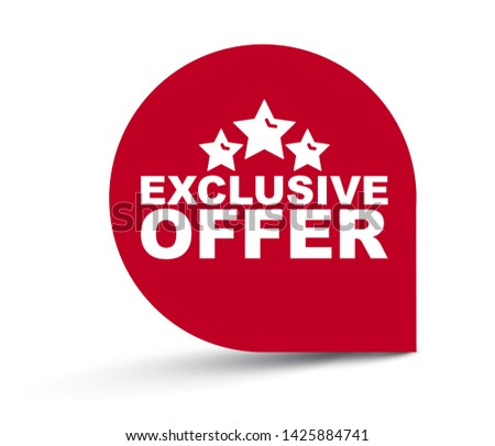 red vector illustration banner exclusive offer Photo stock ©