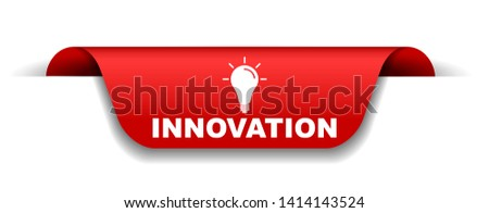 red vector illustration banner innovation