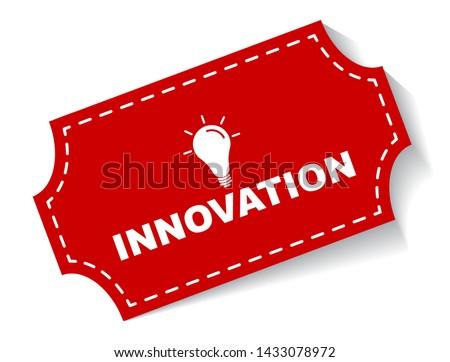 red vector illustration banner innovation