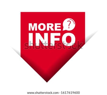 red vector illustration banner more info Stock photo ©