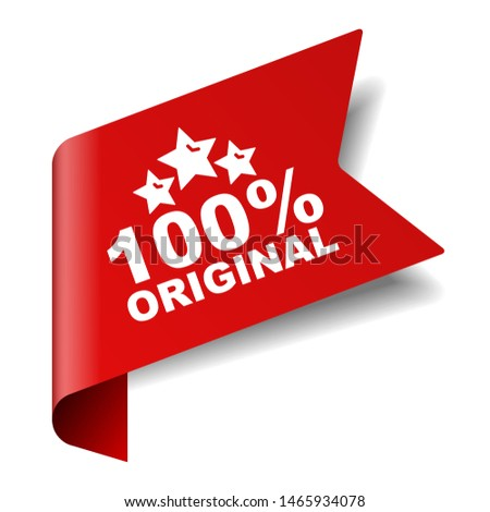 red vector illustration banner 100% original Stock photo ©