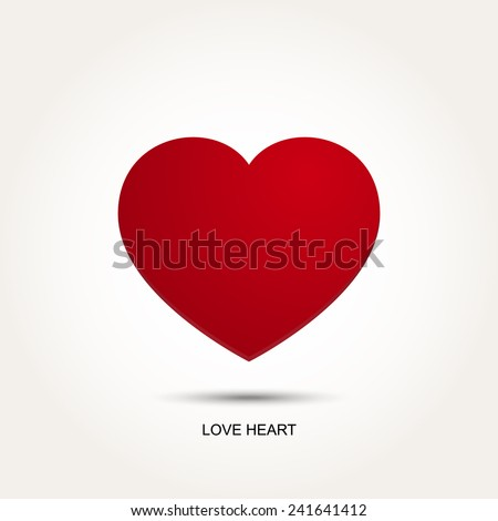 red vector love heart