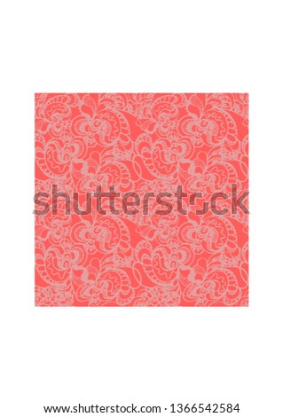 Red vector ornate pattern