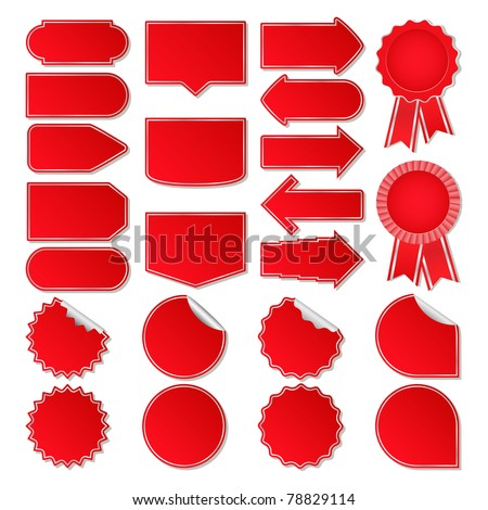 Red Vector Price Tags