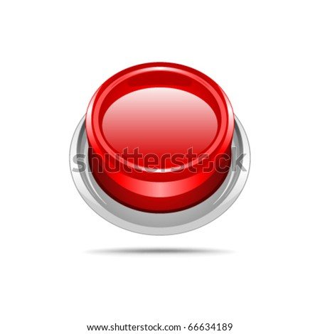 Red vector shiny button