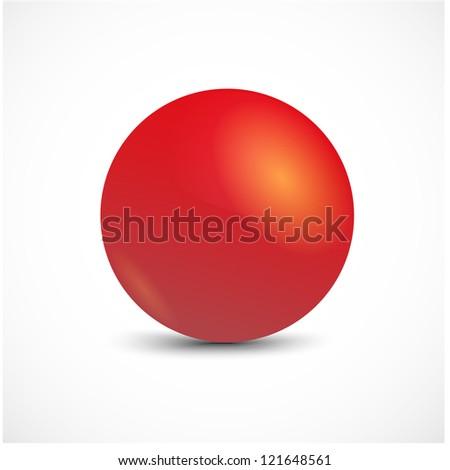 Red vector sphere.