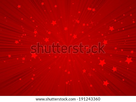 red vector star burst