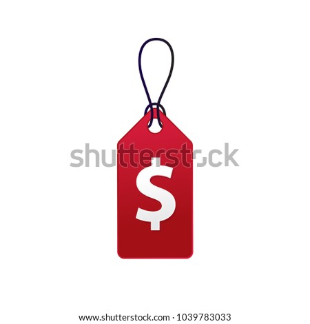 Red Vector tag label template
