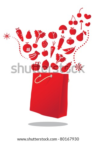 red Vegetable and Fruit bag
