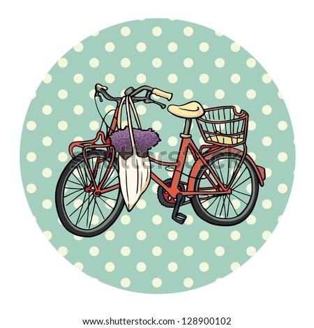 Red Vintage Bike Red Vintage Bicycle With