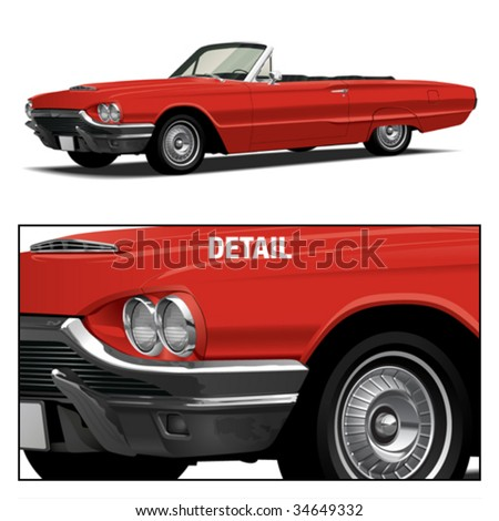 Red Vintage Luxury Convertible