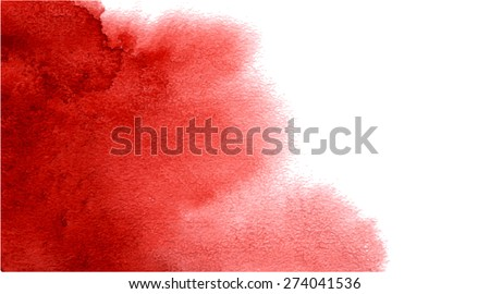 Red watercolor background. Vector.