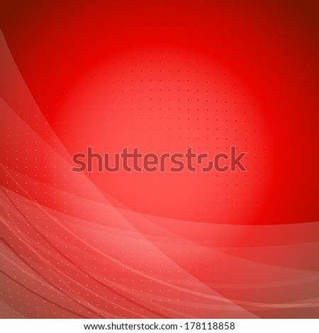 Red wave bright background template. Vector illustration