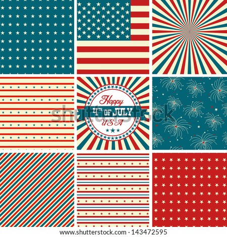 Red White Blue Stripes Background Red White And Blue Stars And