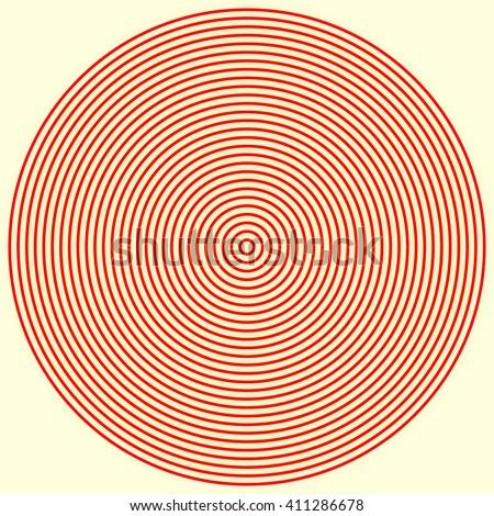 red white round abstract vortex