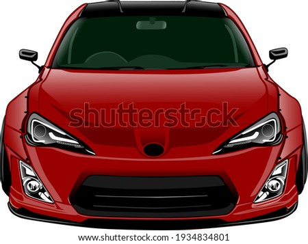 red widebody style front side