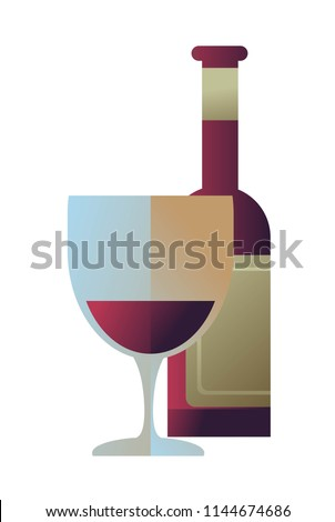 red wine and bottle