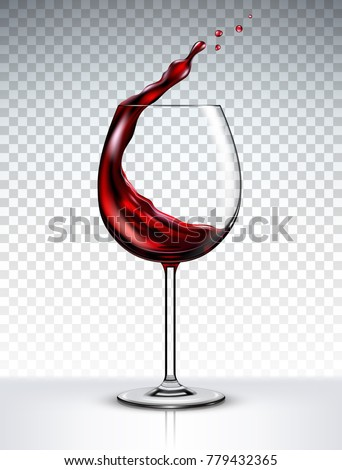 red wine splashing out of a
