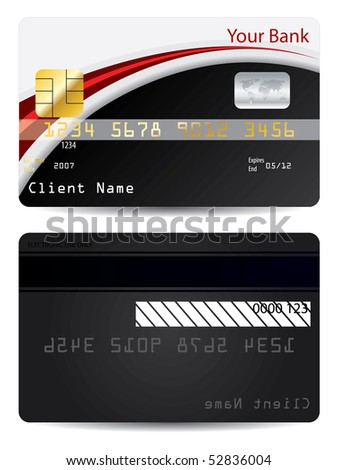 red with black business card