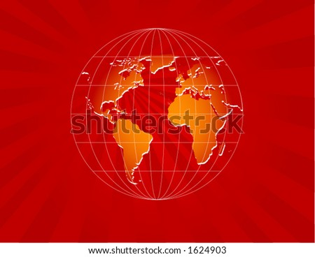 RED WORLD - stock vector