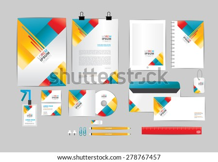 red yellow and blue corporate