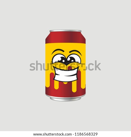red yellow drink can with