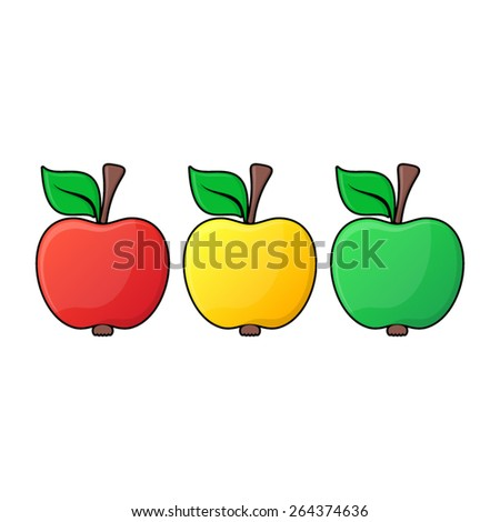 red yellow green apple icons
