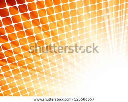 Red yellow rays light 3D mosaic. EPS 8 vector file included