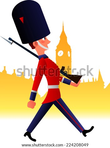 redcoat soldier cartoon