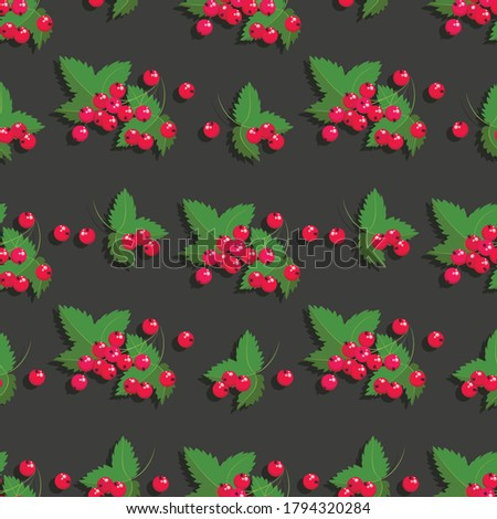 redcurrant berry pattern