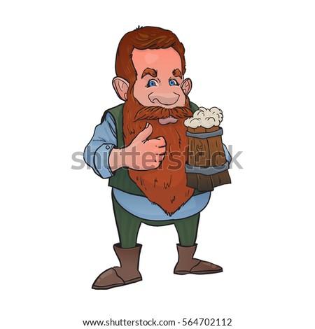 redhead dwarf with beerst