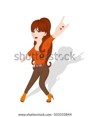 redhead rocker girl