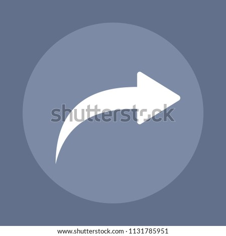 Redo - Action Glyph Icons. A simple vector icon.