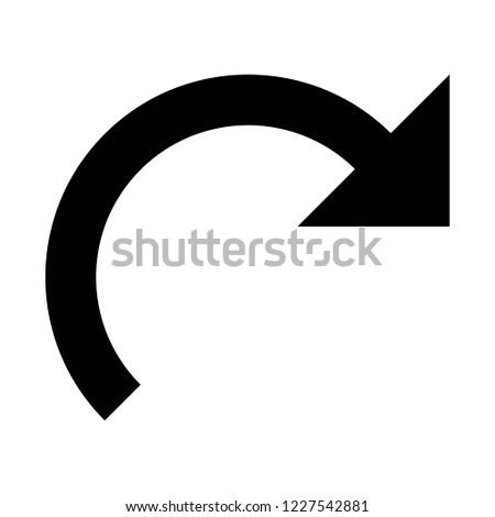 redo arrow on isolated background
