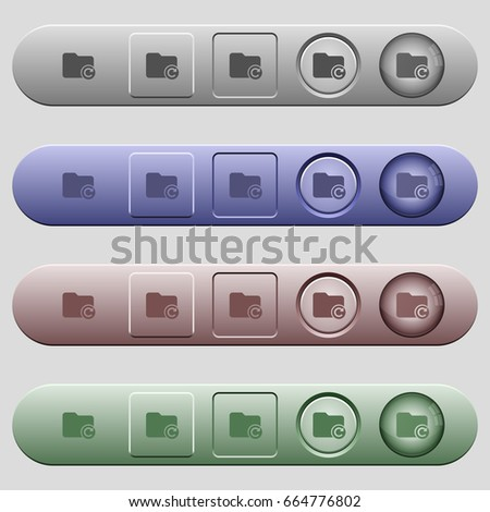 Redo directory last operation icons on rounded horizontal menu bars in different colors and button styles #664776802