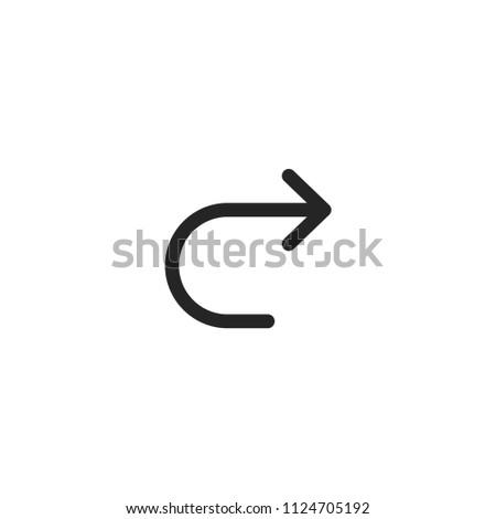 Redo Modern Simple Outline Vector Icon