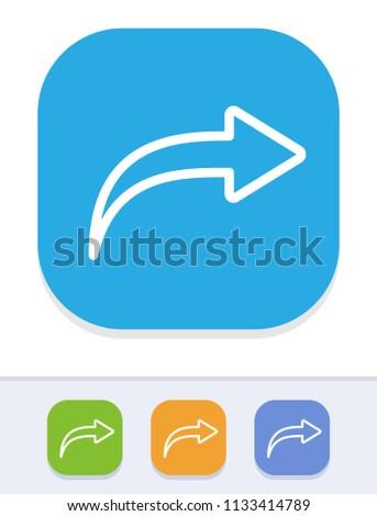 Redo - Tile Stroke Icons. A simple vector icon.