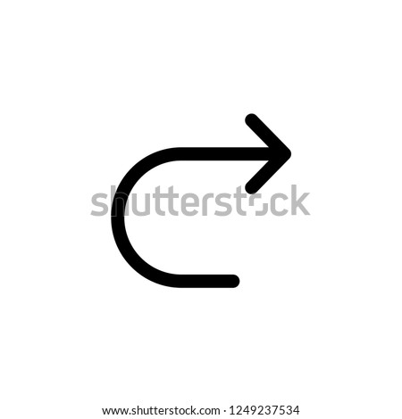 Redo Universal Icon Vector Template. UI Sign and Symbol in Line Art Style. EPS 10.