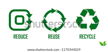 reduce reuse recycle concept. eps 10  Stockfoto ©