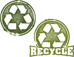 Reduce Reuse Recycle Rubber Stamp Imprint