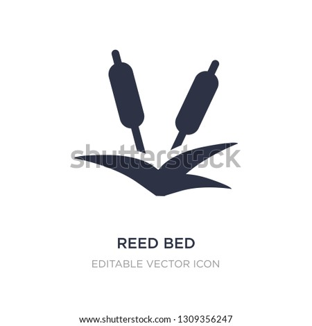reed bed icon on white