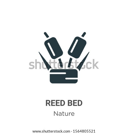 reed bed vector icon on white