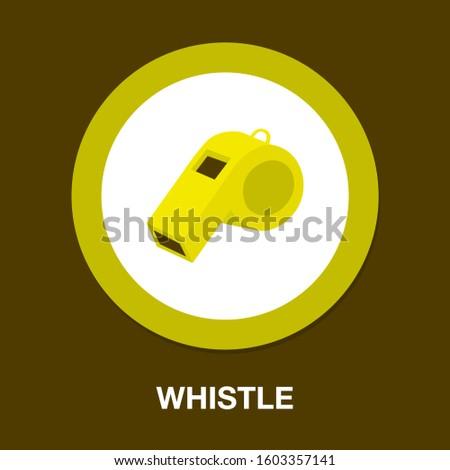 Referee whistle icon. flat illustration of Referee whistle vector icon. Referee whistle sign symbol