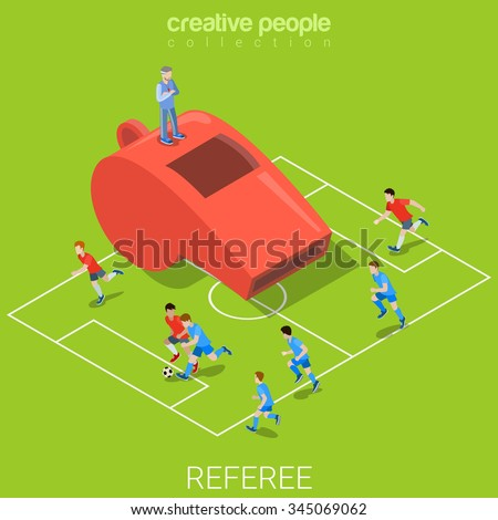 referee whistle soccer football