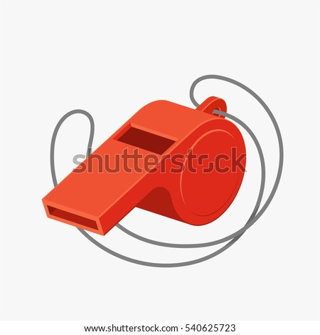 Referee whistle vector illustration isolated on white background