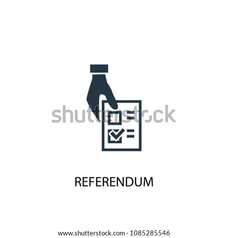 Referendum icon. Simple element illustration. Referendum concept symbol design from Elections collection. Can be used for web and mobile.